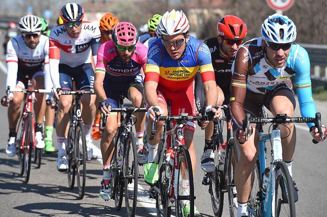 Sergie Tvetcov (Androni Giocattoli) in the breakaway in Milan-San Remo