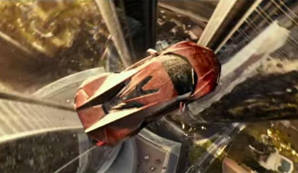 Car flies between two towers in Furious 7