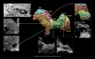 Comet 67P Features Named After Egyptian Gods