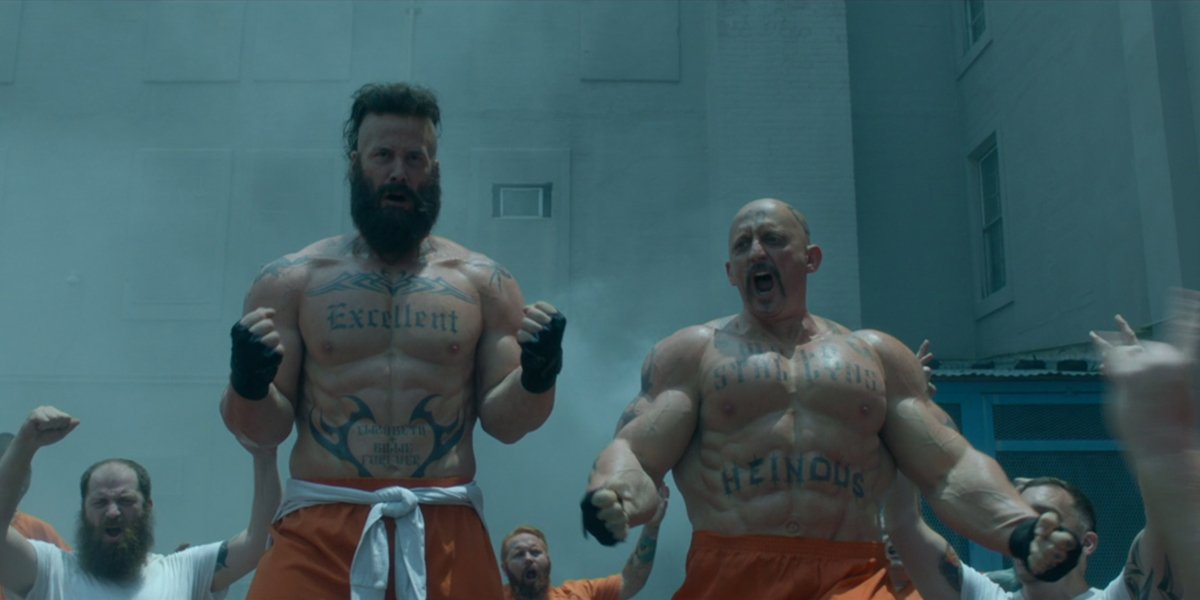 Bill and Ted Face The Music muscular prison bill and ted