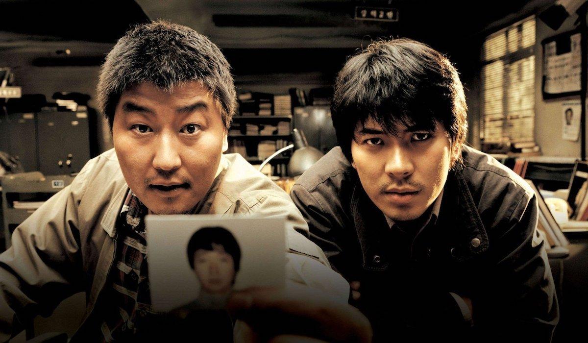 Kang-ho Song and Sang-kyung Kim in Memories of Murder