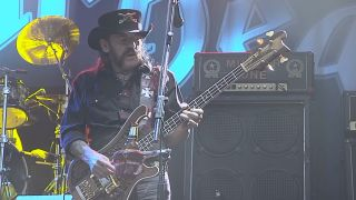 A still of Lemmy from the video