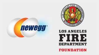 Newegg and LAFD Foundation logos