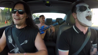 Members of Converge and Trap Them sing along to the Misfits en route to Denver Riot Fest