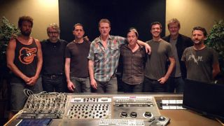 Queens Of The Stone Age in the studio