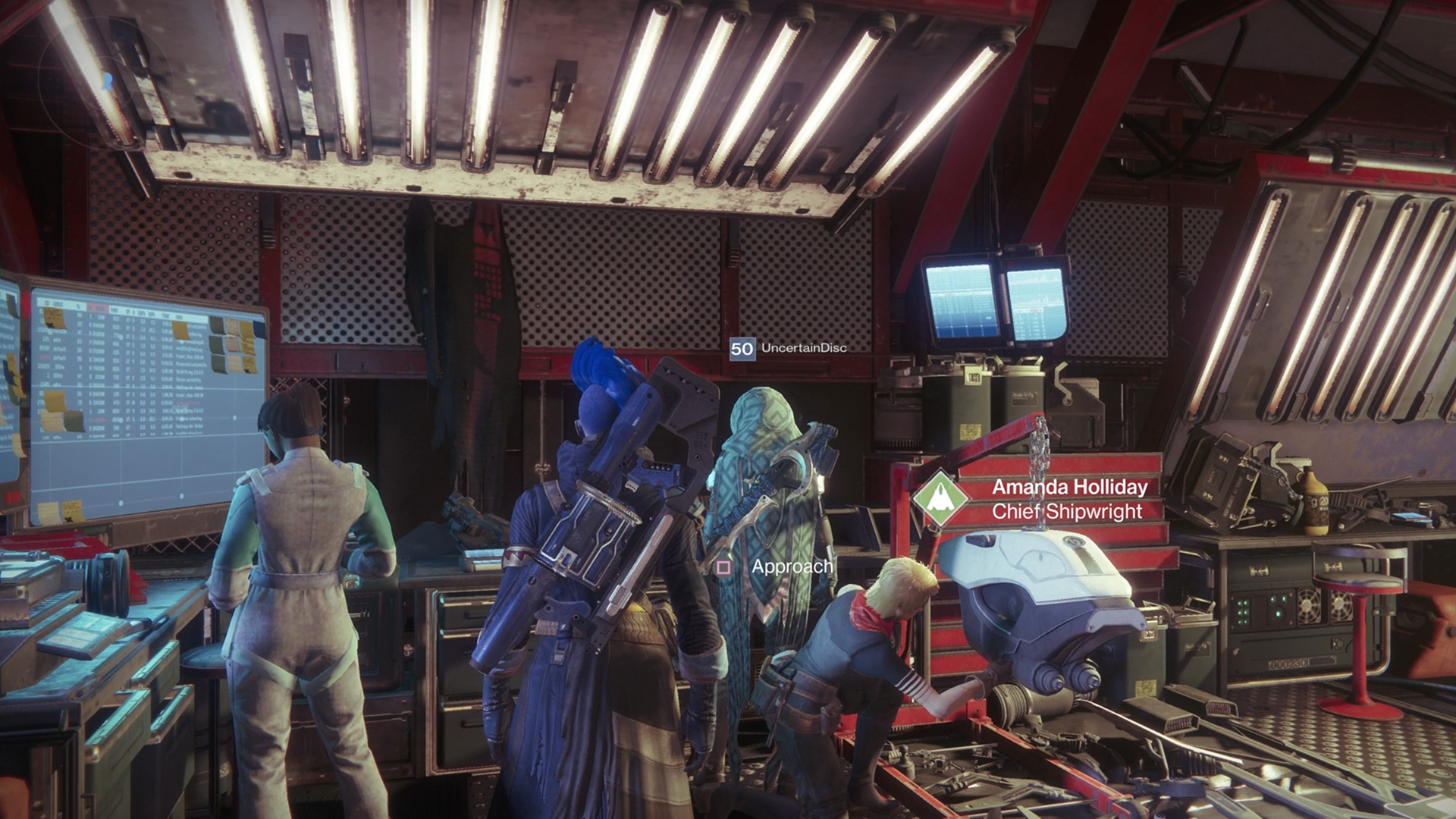 Cayde-6's cape is still hanging in the tower Destiny 2: Forsaken and