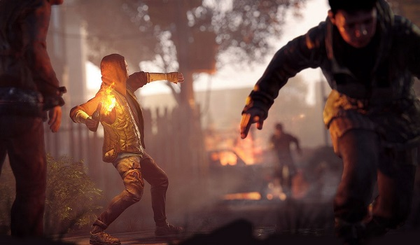 rebel throws fire-bomb in Homefront: The Revolution
