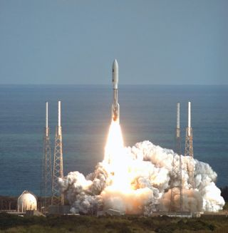 NASA's New Horizons spacecraft launches into space on a mission to the planet Pluto and beyond on Jan. 19, 2006.