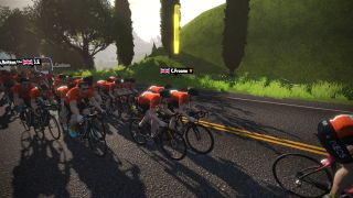 Chris Froome was one of the Team Ineos riders who took part in a mass-participation eRide on Zwift before going on to take sixth place in his team's first Zwift eRace