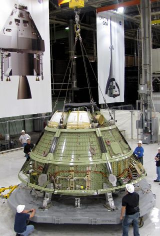 NASA's first Orion space capsule for manned mission ships out for ground tests.