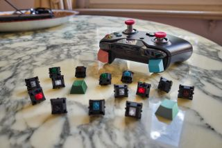 Image of Xbox One controller and lots of Cherry MX switches