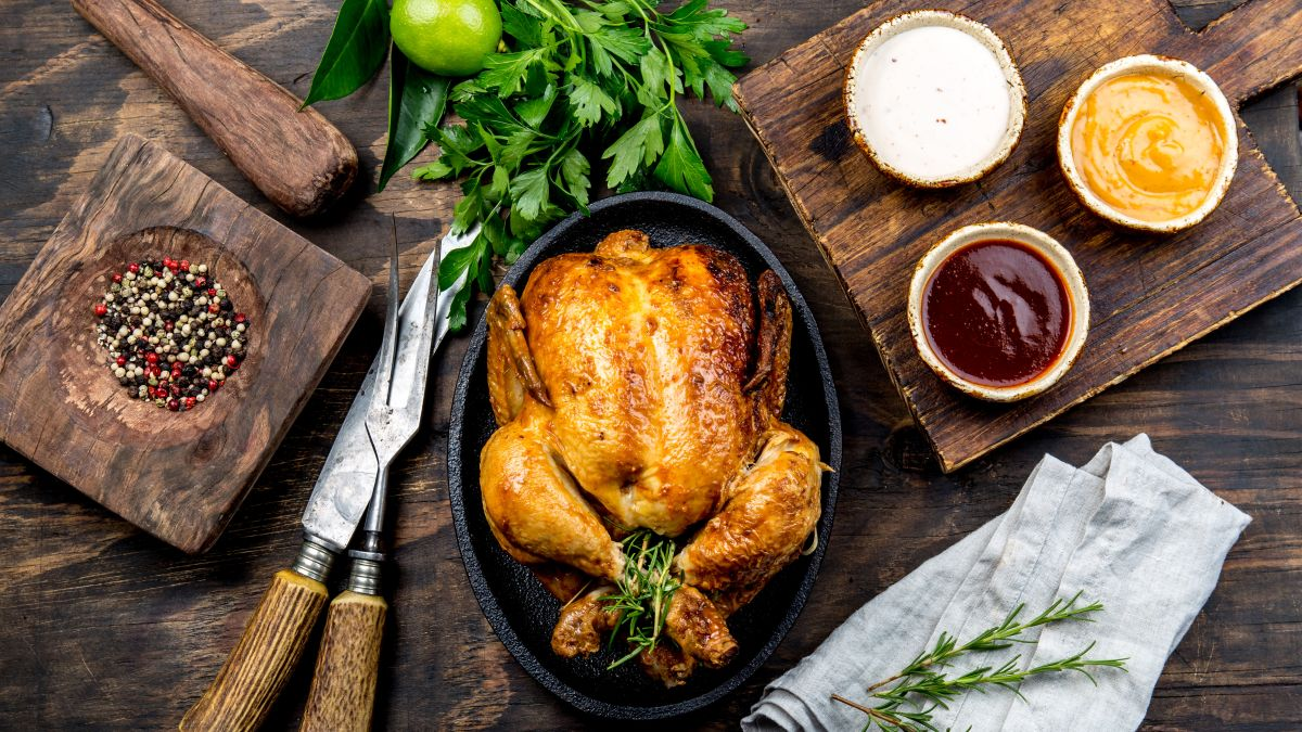 This slow cooker roast chicken recipe with a smoky twist