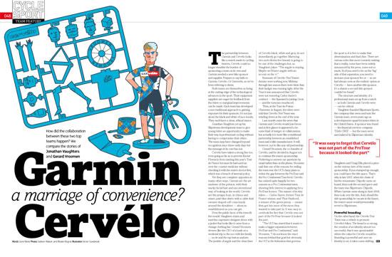 Garmin-Cervlo, Cycle Sport November 2010