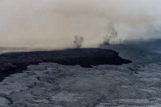 Volcano tornado in Iceland