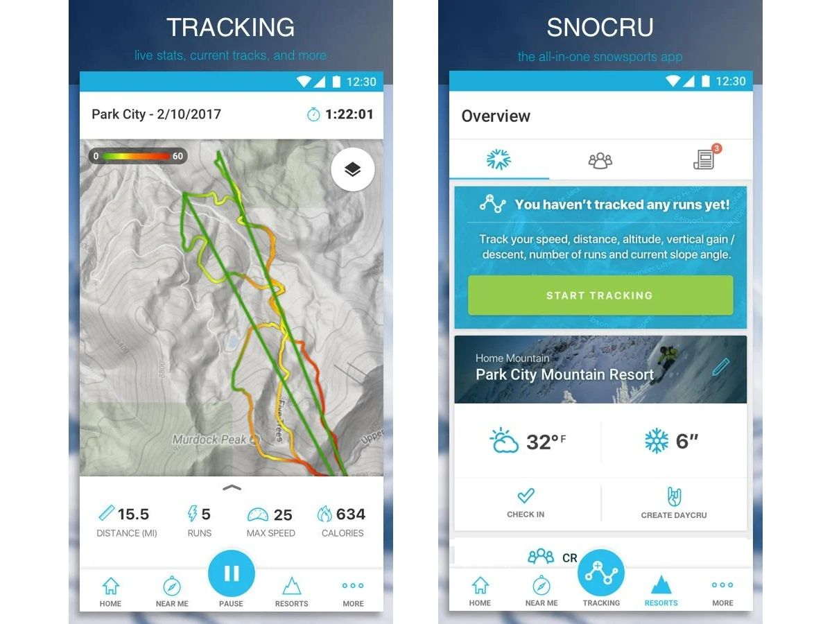 Best Ski Apps - Trackers and Snow Reports for Android, iOS