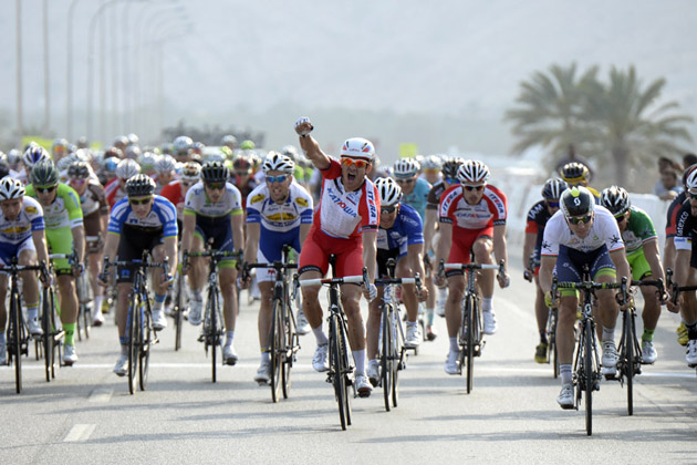Alexander Kristoff wins stage two of the 2014 Tour of Oman
