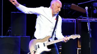 Pete Townshend of The Who performs live