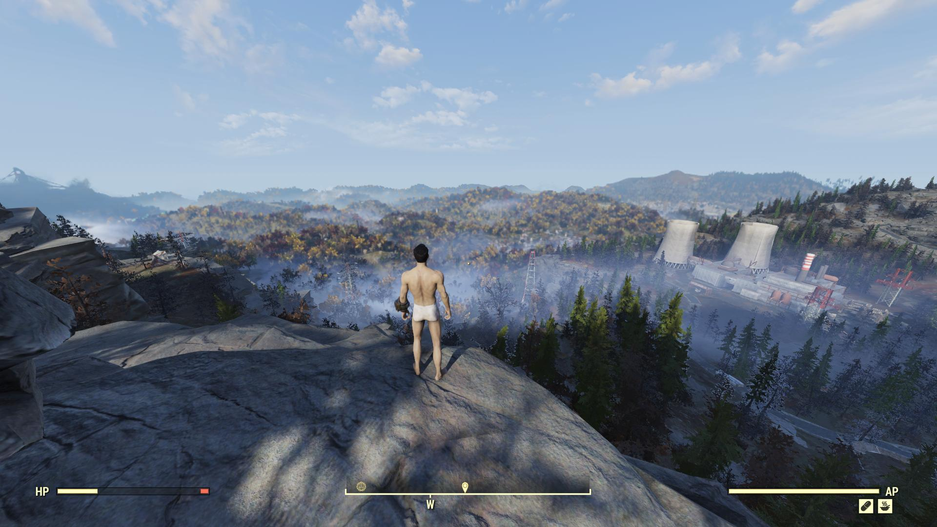 I crossed Fallout 76 with no clothes and a hangover