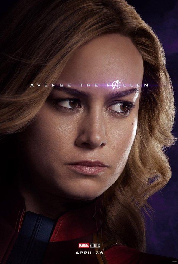 Brie Larson full Endgame poster