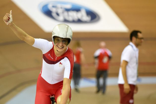 Joanna Rowsell wins individual pursuit, Commonwealth Games 2014, track day two