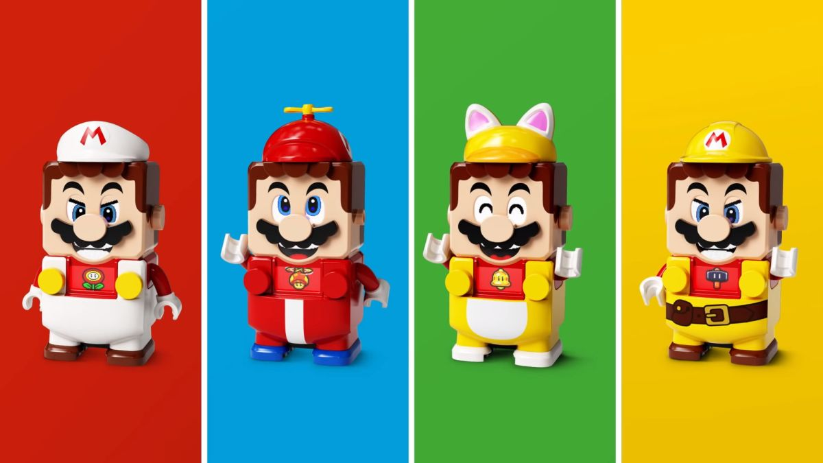 Lego Super Mario is getting four extra suits in a set of Power-Up Packs