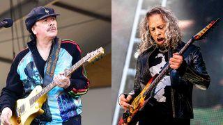 Carlos Santana and Kirk Hammett