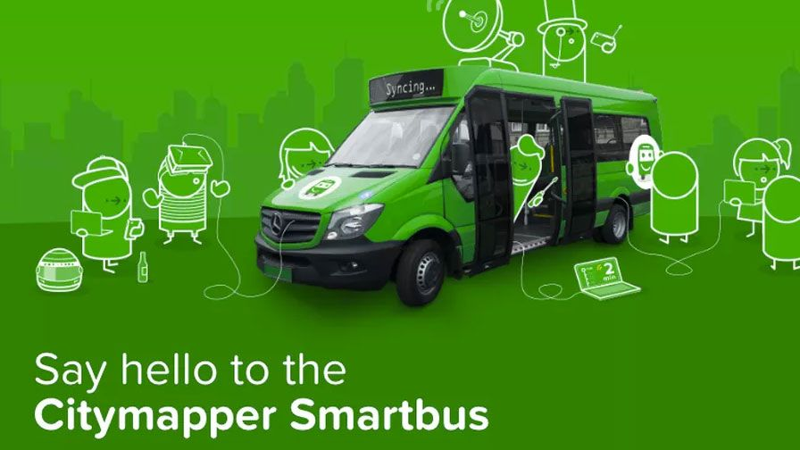 Citymapper bus goes where no bus has gone before