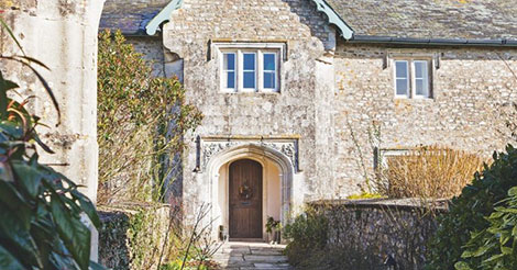 A classic English country manor house in Devon