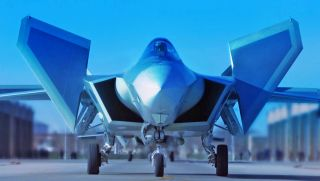 An undated file photo shows a J-20 stealth fighter