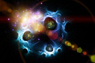 abstract image of weird swirly light.