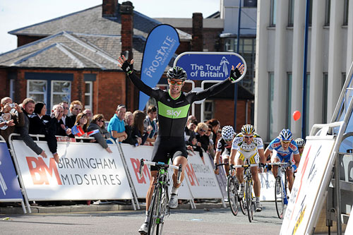 Greg Henderson wins, Tour of Britain 2010, stage 2