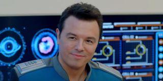seth macfarlane's ed smiling on the orville season 2