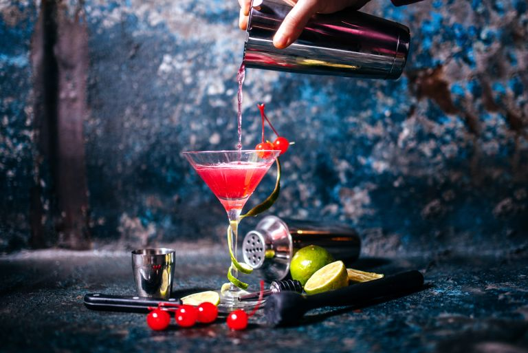 Cosmopolitan classic cocktail