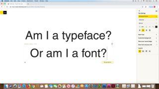 Font vs typeface