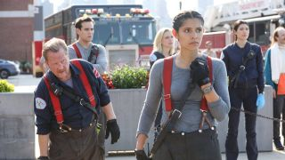 chicago fire season 10 premiere stella and mouch watching from shore