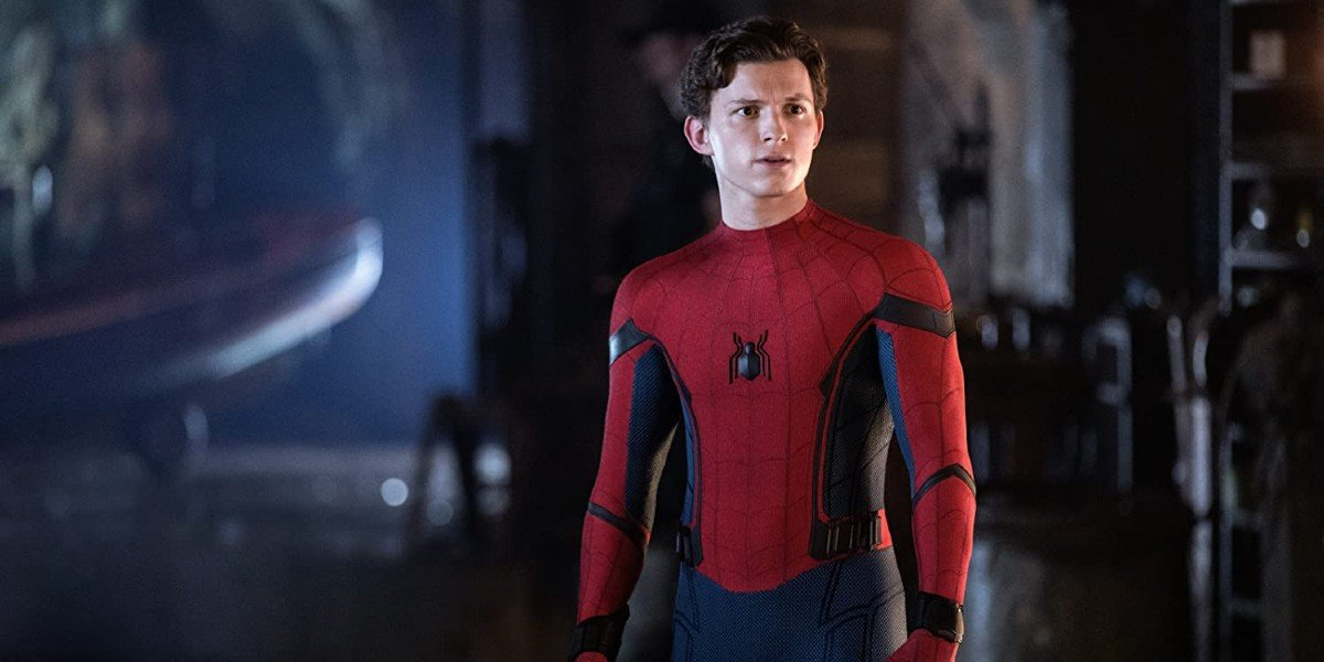 Tom Holland as Spider-Man.