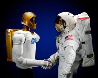 Space technology advancements like NASA's Robonaut 2 (left) can help humanity launch more ambitious space exploration missions.