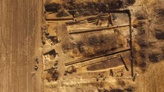 It's thought the ancient cemetery dates from about 5500 years ago. Seven barrows more than 130 feet long have been excavated so far and there may be more than a dozen.