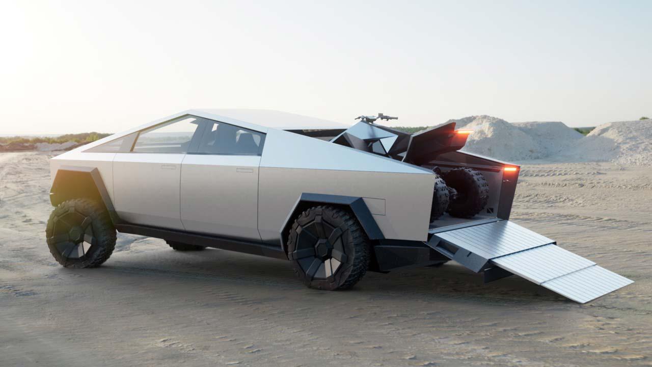 Tesla Cybertruck arrière