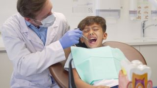 Is this boy feeling pain from his periodontal ligament or his dental pulp?