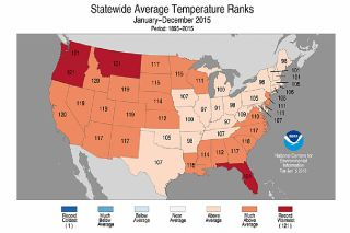 Statewide Average Temperature graphic