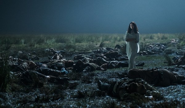 outlander battle of culloden aftermath jamie hallucination claire season 3 starz