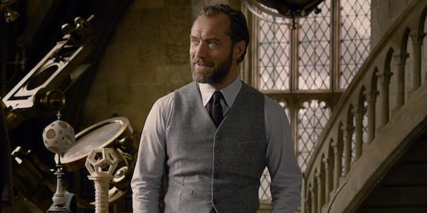 Jude Law as Albus Dumbledore in Fantastic Beasts: Crimes of Grindelwald
