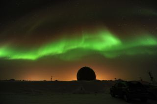 NASA space physicist James Spann took this stunning picture on March 1, 2011 from Poker Flat, Alaska, where he was attending a scientific conference to study auroras.