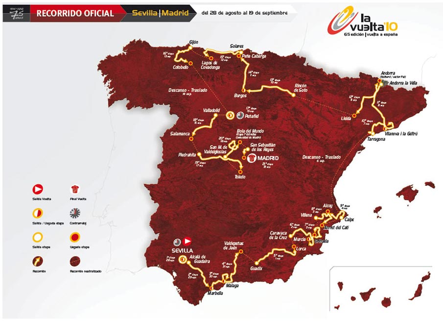 Vuelta a Espana 2010 map