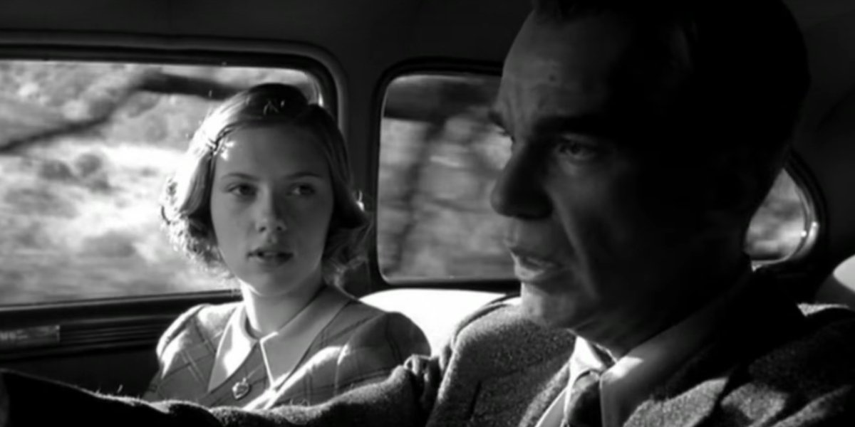 Scarlett Johansson and Billy Bob Thornton in The Man Who Wasn't There