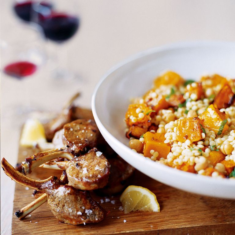 Giant Couscous with Roasted Squash and Chickpeas Recipe-recipe ideas-new recipes-woman and home
