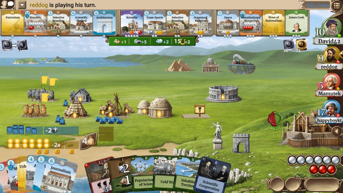 Through the Ages is a superior civilization-building game
