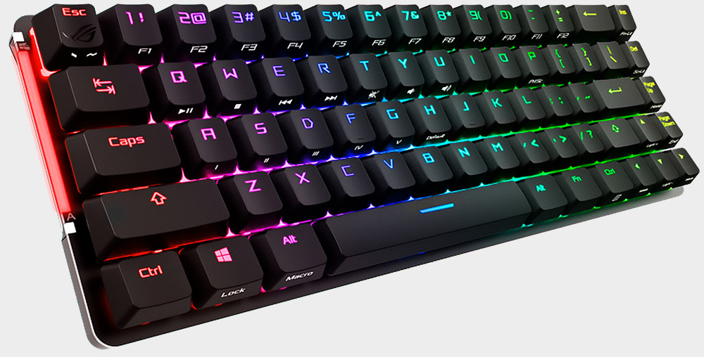 Asus built an ultra-compact wireless gaming keyboard with a touch panel
