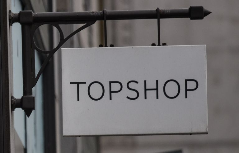 A general view of a Topshop store on June 5, 2019 in London